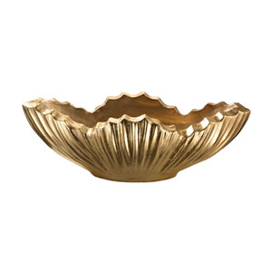Poppy Planter Gold Leaf 13-Inch Planter
