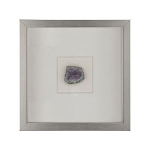 Natural Silver Mineral Wall Decor in Lavender