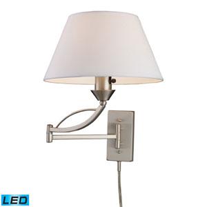 Elysburg One Light LED Swingarm Wall Sconce In Satin Nickel