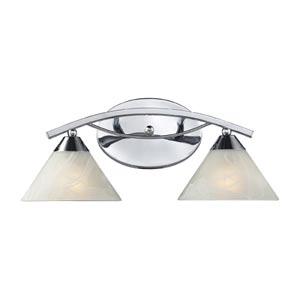 Elysburg Polished Chrome Two-Light Bath Light