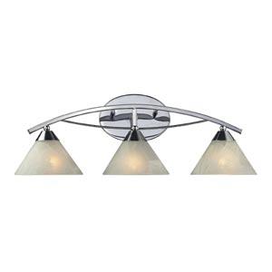 Elysburg Polished Chrome Three-Light Bath Light