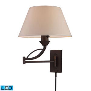 Elysburg One Light LED Swingarm Wall Sconce In Aged Bronze