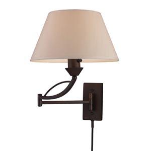 Elysburg Aged Bronze One-Light Swing-Arm Sconce