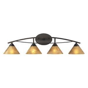 Elysburg Oiled Bronze Four-Light Bath Light