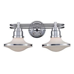 Retrospectives Polished Chrome Two-Light Bath Fixture