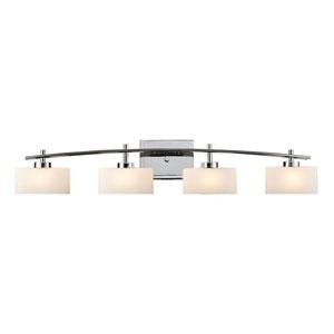 Eastbrook Polished Chrome Four-Light Bath Light