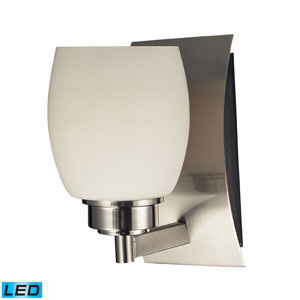 Northport One Light LED Bath Fixture In Satin Nickel