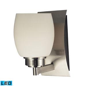 besa lighting baaz 16 satin nickel one light led bath sconce with