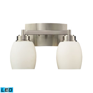 Northport Two Light LED Bath Fixture In Satin Nickel