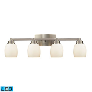Northport Four Light LED Bath Fixture In Satin Nickel