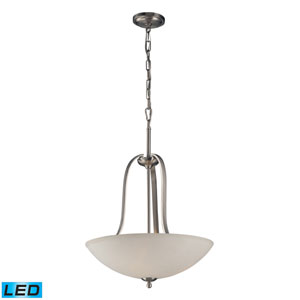 Mayfield Brushed Nickel 27-Inch LED Three Light Pendant