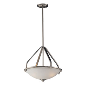 Mayfield Brushed Nickel Three Light Pendant