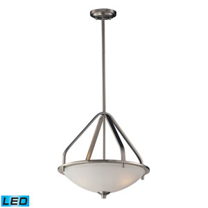Mayfield Brushed Nickel LED Three Light Pendant