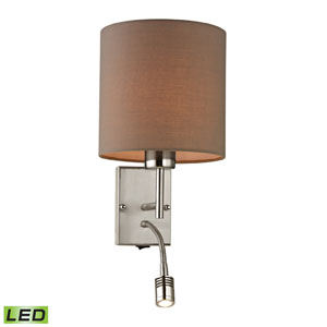 Regina Brushed Nickel LED Two Light Wall Sconce