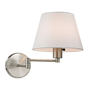 Avenal Brushed Nickel One Light Wall Sconce