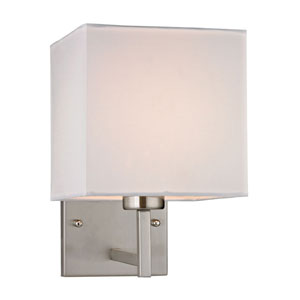Davis Brushed Nickel One Light Wall Sconce
