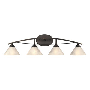 Oil Rubbed Bronze Four-Light Vanity
