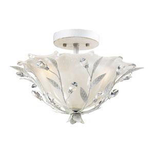 Circeo Two-Light Semi Flush in Antique White