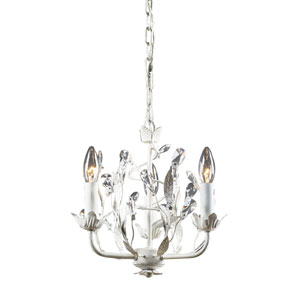 Circeo Three-Light Chandelier in Antique White