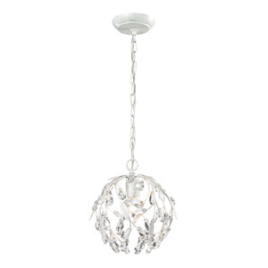 Circeo Antique White One Light Mini Pendant