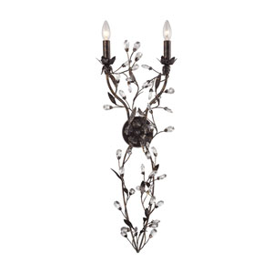 Circeo Deep Rust 12-Inch Two-Light Wall Sconce