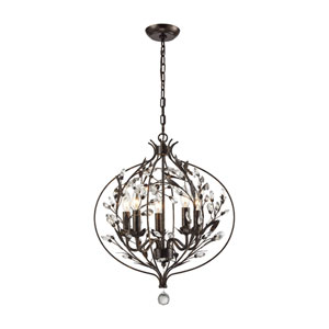 Circeo Deep Rust Five-Light Pendant