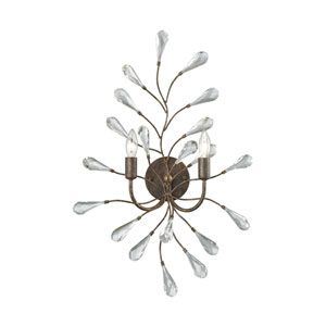 Crislett Sunglow Bronze Two-Light Wall Sconce