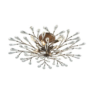 Crislett Sunglow Bronze Eight-Light Semi-Flush Mount