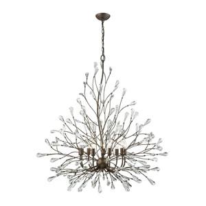 Crislett Sunglow Bronze Nine-Light Chandelier