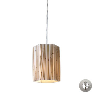 Modern Organics Polished Chrome One-Light Mini Pendant