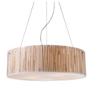 Modern Organics Bamboo Stem Drum Pendant