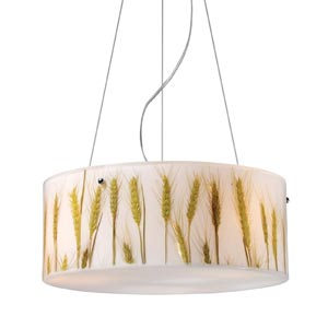 Modern Organics Wheat Drum Pendant