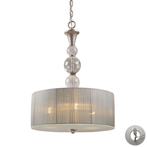 Alexis Three Light Pendant In Antique Silver Includes w/ An Adapter Kit