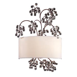 Winterberry Antique Darkwood Two-Light Sconce