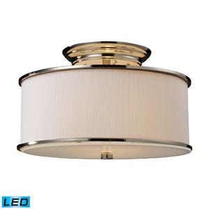 Lureau Two Light LED Semi-Flush In Polished Nickel