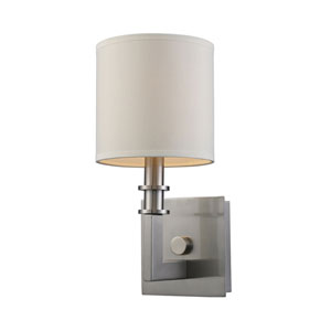 Seven Springs Satin Nickel One-Light Sconce