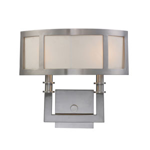 Seven Springs Satin Nickel Two-Light Sconce