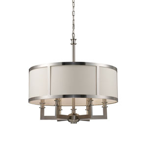 Seven Springs Satin Nickel Six-Light Pendant