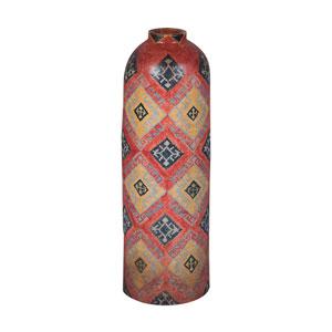 Handpainted Terra Cotta Tall Jar