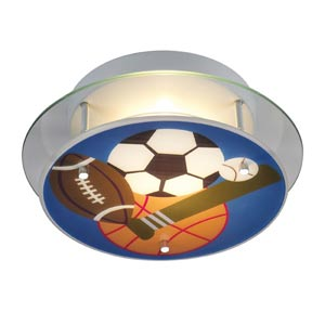 Sports Semi-Flush Ceiling Light
