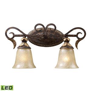 Regency Two Light LED Bath Fixture In Burnt Bronze