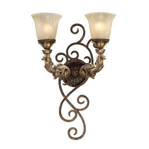 Regency Burnt Bronze Two-Light Sconce