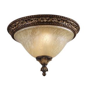 Regency Burnt Bronze Flush Mount Ceiling Light