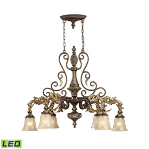 Regency Burnt Bronze 39-Inch LED Chandelier