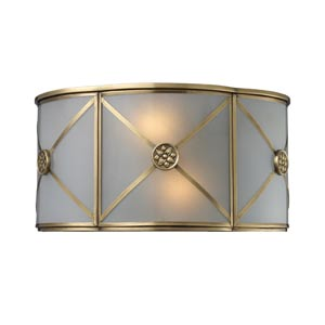 Preston Solid Brushed Brass Two-Light Sconce