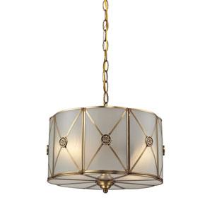 Preston Brushed Brass Two-Light Pendant
