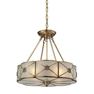 Preston Brushed Brass Four-Light Pendant