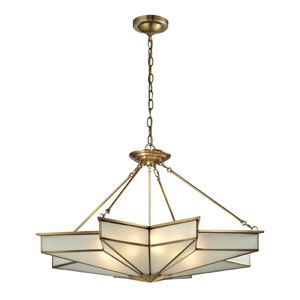 Decostar Brushed Brass Eight Light Pendant