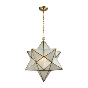 Decostar Brushed Brass Three-Light Pendant