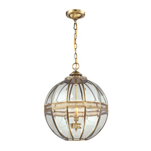 Randolph Brushed Brass Three-Light Pendant